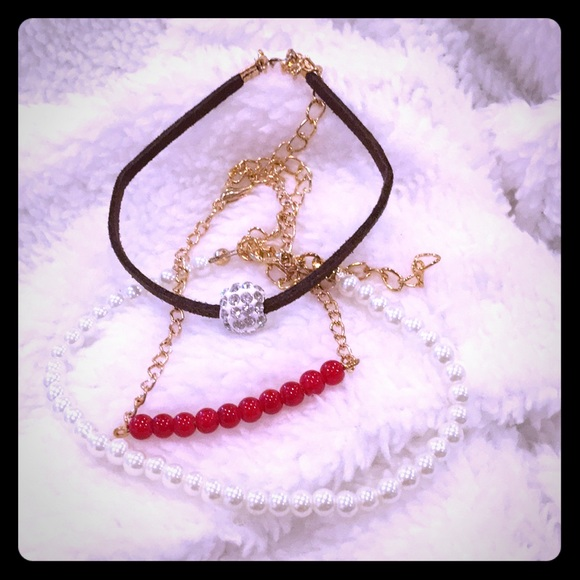 Jewelry - 3 dainty adjustable bracelets, NWOT
